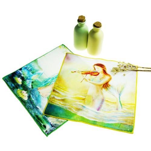 纯棉超清4K数码印花方巾 创意卡通花型印染小毛巾 支持个性化定制