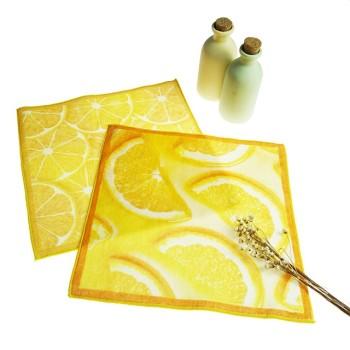 厂家直销4K纯棉数码印花方巾水果系列印花毛巾卡通礼品毛巾可定制
