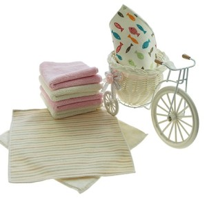 新款4K活性印花喷墨方巾 彩色条纹印花毛巾 厂家推荐可小批量定制