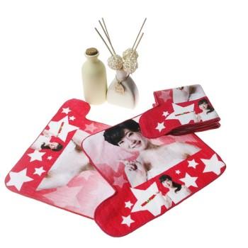 不懒人纯棉数码印花手腕巾 创意人物花型印染小方巾 工厂推荐定制