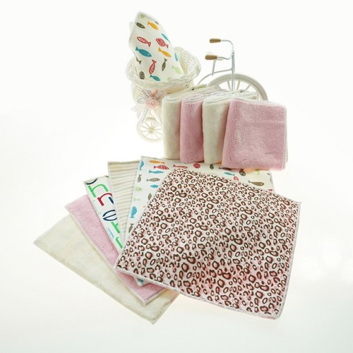 全涤数码印花小方巾 可爱豹纹数码喷墨印花毛巾 可支持个性化定制