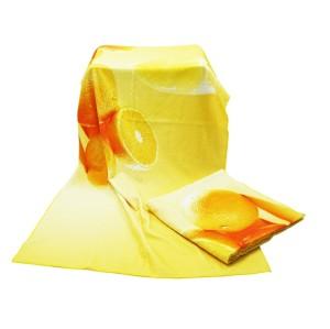 全新4K超清数码印花浴巾 清新水果系列印染大浴巾 支持个性化定制