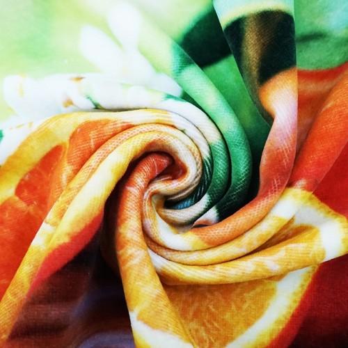 纯棉数码印花毛巾  超清水果图案印花大毛巾  支持来图个性化定制