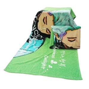 不懒人超清4K数码印花浴巾 纯棉卡通人物印染浴巾 支持个性化定制