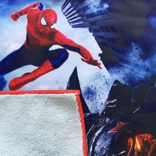 厂家推荐全棉数码印花方巾 儿童卡通动漫喷墨印花小毛巾来图定制
