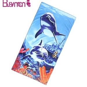 Extra large photo printed microfiber beach towel blanket