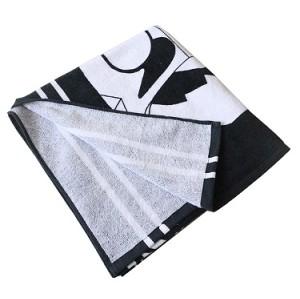 100% cotton cheap black digital printed sport towel