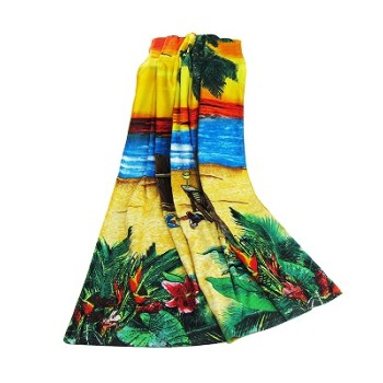 cotton printed or plain dyed beach towel with sticks sets