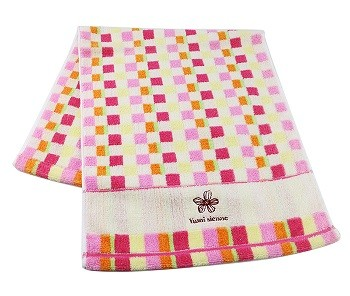 Jacquard terry cotton face towel with logo