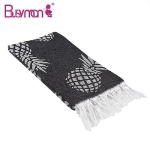 High quality Gauze fabric Jacquard cotton beach towel