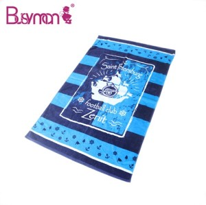 China Luxury Cotton Custom Printed Towels with Logo