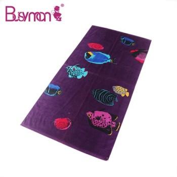 Custom Full Digital Printed Cotton Hot Beach Towel
