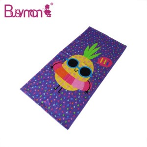 100% cotton fabric Art picture printed beach towel