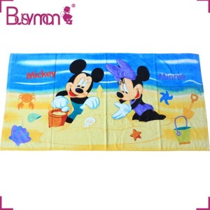 Cotton Fabric Absorbent quick dry custom beach bath towel with printed