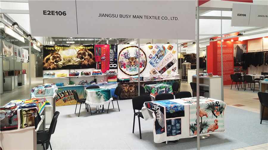 The third leg of Poland's third exhibition to E2E106 look beautiful digital printing towel