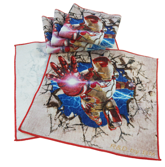 厂家定制创意礼品毛巾 4K数码印花回礼毛巾非竹纤维毛巾儿童方巾