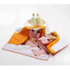 3D逼真超高清小方巾4K数码印花方巾 可爱宝宝高清印花方巾 可定制