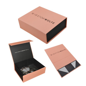 Collapsible customized storage paper packaging gift box