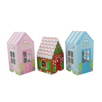 Donation chocolate house type shaped designs cardboard gift box