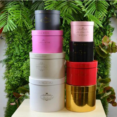 2018 Popular luxury packaging round gift paper hat flower box