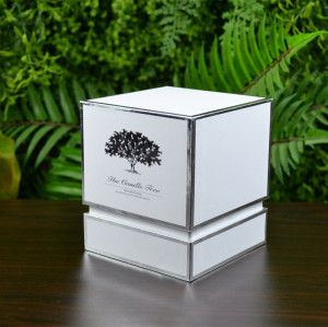 Custom paper cardboard luxury round rigid candle gift packaging box