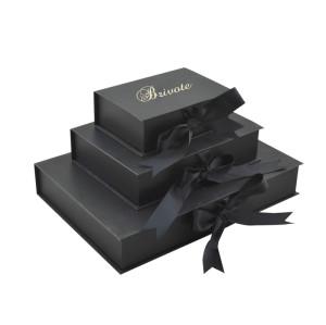 Donguan brivote Custom OEM bow tie packaging ribbon paper gift box