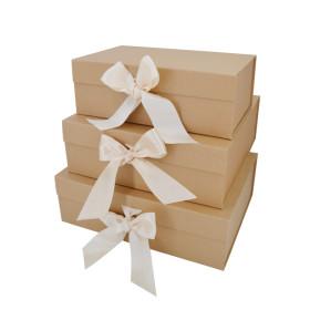 Ribbon folding box ribbon closures gift box with ribbon closure
