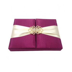 custom luxury packaging silk wedding invitation box