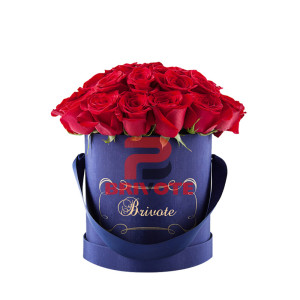 China Luxury Round Custom Rose Flower Box Wholesale