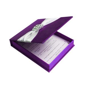 Hot selling design luxury wedding invitation cards box