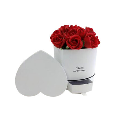 Manufacturer Wholesale Luxury Creative Heart Shape Flower Paper Box With Drawer