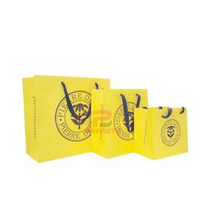 Cheap custom printed brown kraft paper packaging shopping bag