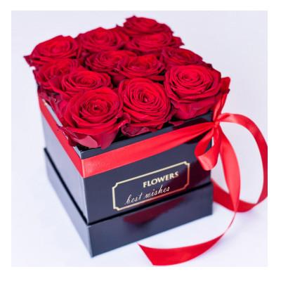 Custom printed paper round cardboard rose flower packaging box fresh flower boxes