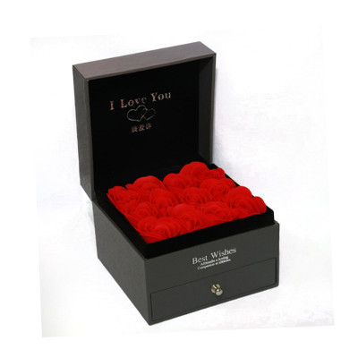 luxury cardboard flower boxes rose packaging with drawer