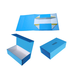 Custom magnet folding paper flat pack box luxury magnetic gift box with magnet closure
