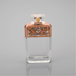 2017 New Desigh Hot Product Square Perfume Glass Bottle