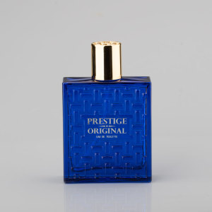 Empty Perfume Bottle Perfumes with blue coloring