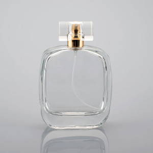 50ml Refillable Good Shape Perfume Glass Bottle With Cap and Sprayer