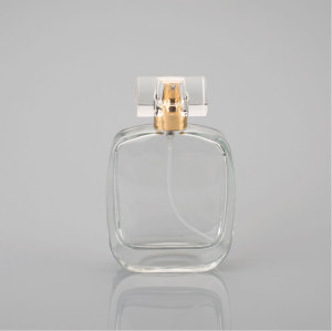 100ml Cosmetic Square Shaped Perfume Glass Bottles For Man Perfume