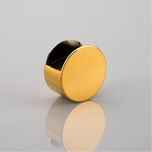 Aluminum material cap with perfume bottle