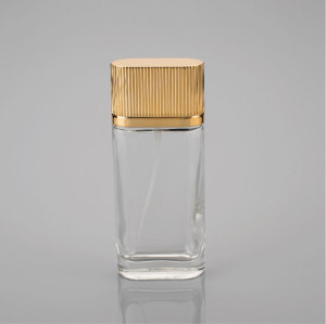 Custom design Clear perfume bottle with stopper for different artwork