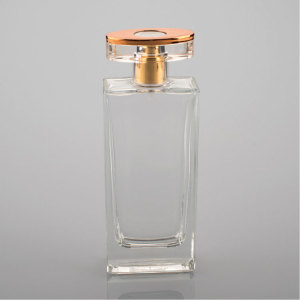 100ml empty glass crimp spray bottles for perfume with arylic cap