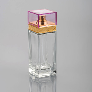 100ml Wholesale Good Quality Glass Perfume Bottle With Square Cap