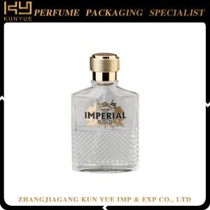 Transparent 100ml Rectangular Empty Glass Perfume Bottle With Cap