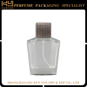 New style fashion design cosmetic square perfume glass bottle parts