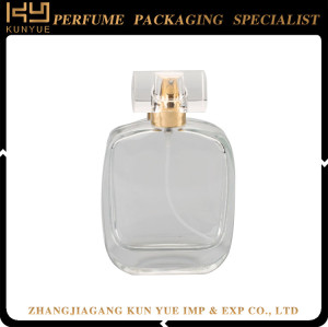 Crimping neck empty perfume bottle with spray empty glass
