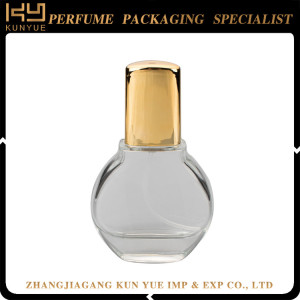 Design your own perfume bottle china perfume glass bottle with ribbon supplier