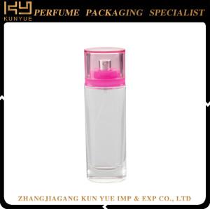 Square perfume spray glass bottle refillable 100ml