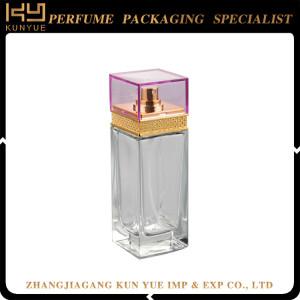Best selling 100ml empty refillable perfume spray design glass bottles