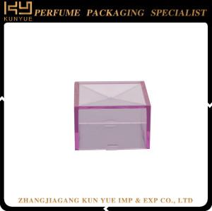 Stock square shaped , square plastic cap car perfume bottle , glass perfume bottle